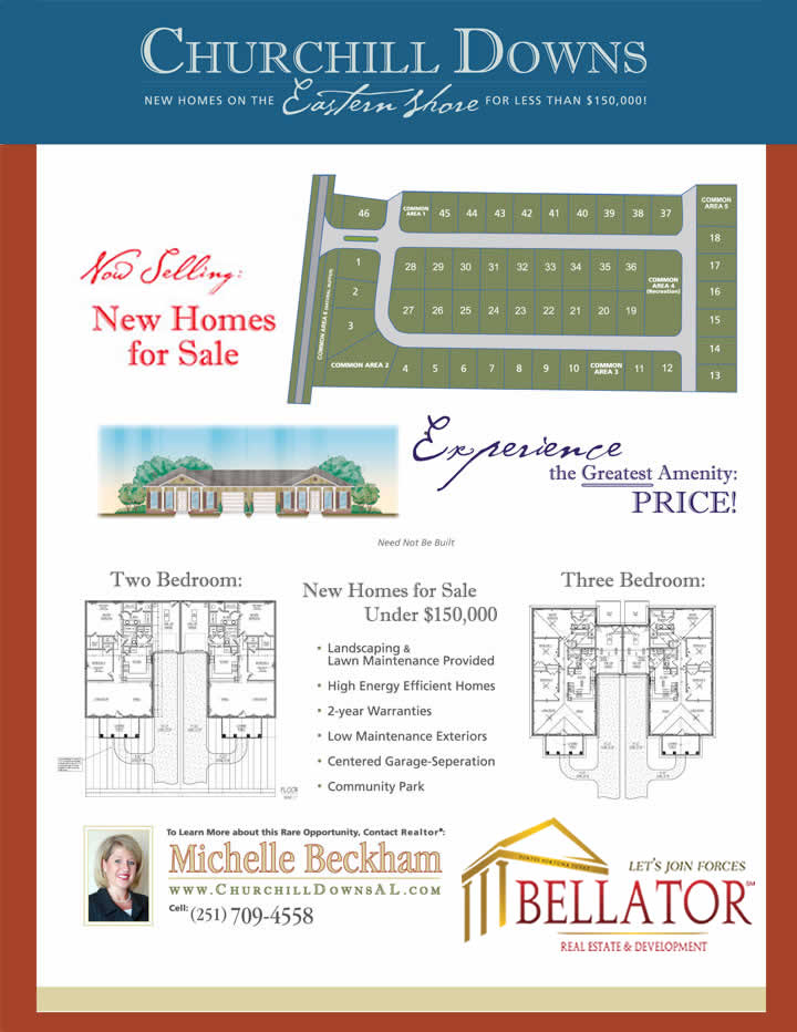 Churchill Downs - Spanish Fort & Stapleton Area Real Estate. Click to View this as Printable Acrobat (PDF) file.